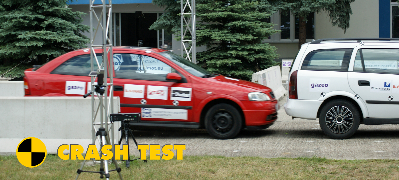 Crash test aut z LPG